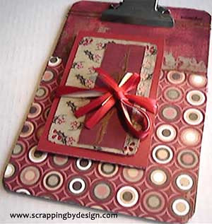 Christmas Clipboard Mini Album