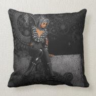 The Time Runs Off Pillow throwpillow