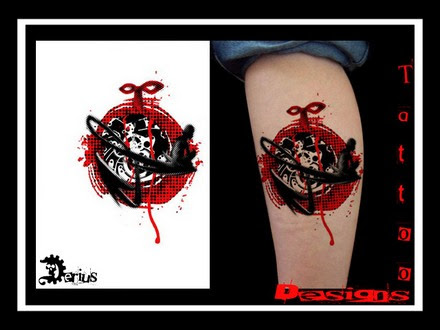 Picture 28 Of 28 From Black Red Stains Dots Tattoo Designs
