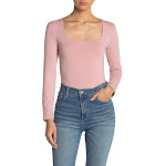 Alternative Square Neck Long Sleeve Fitted Top