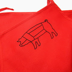 Other White Meat Apron - Red