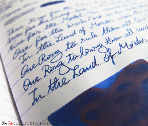 Diamine Majestic Blue shading