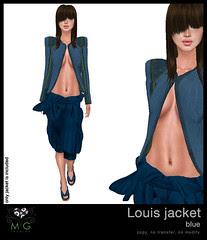 [MG fashion] Louis jacket (blue)