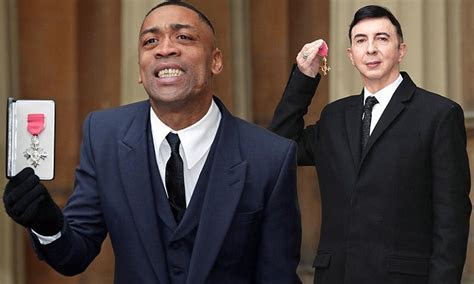 Wiley collects his MBE from the Prince William, Duke of