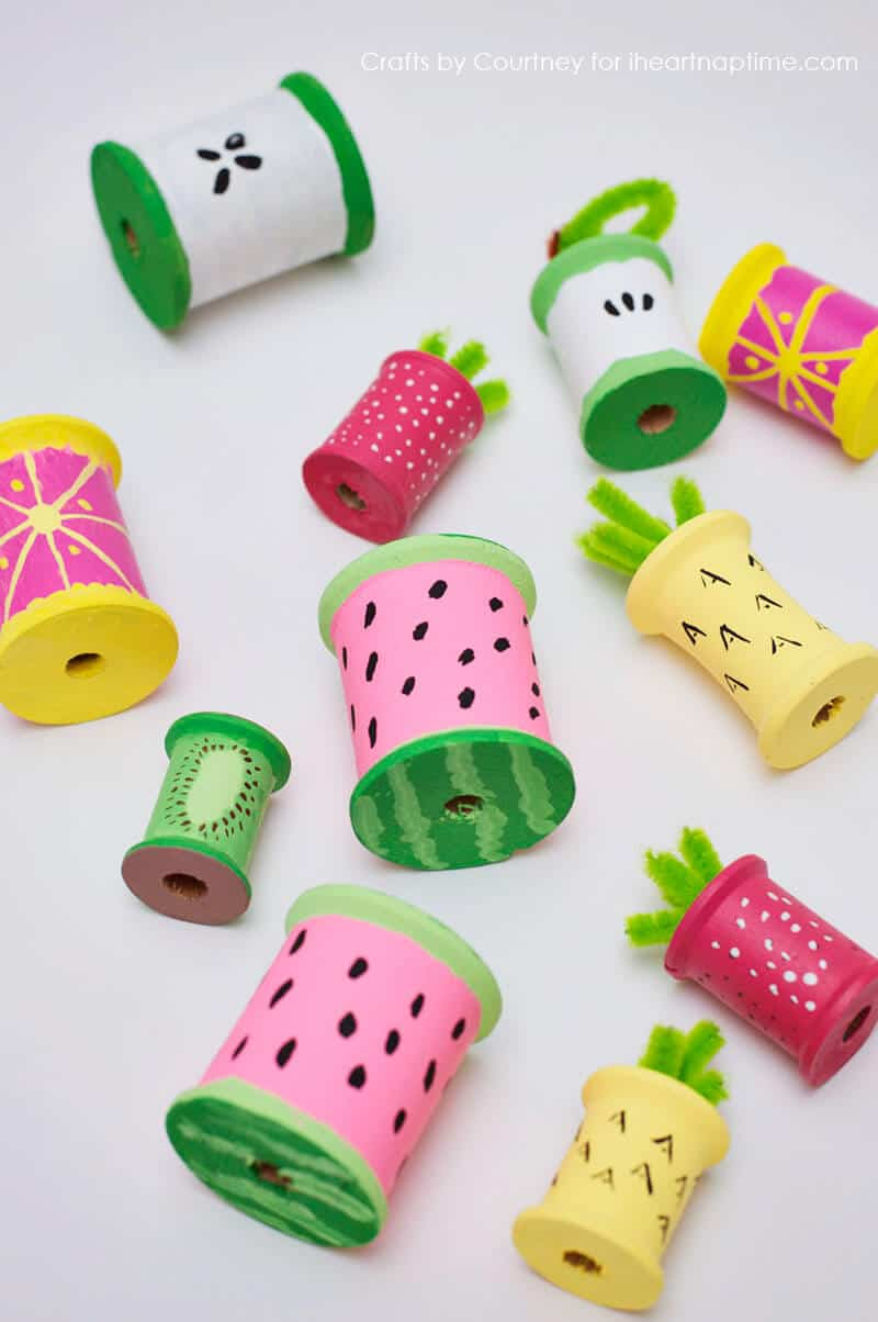 Fun Fruit With Thread Spools  I Heart Nap Time