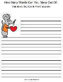 Valentine's Day Word Mining Worksheet For Kids