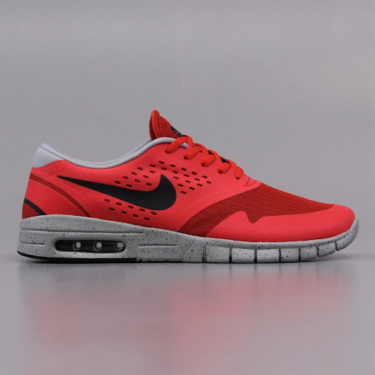 Nike SB Eric Koston 2 Max Shoes Crimson Red and Grey