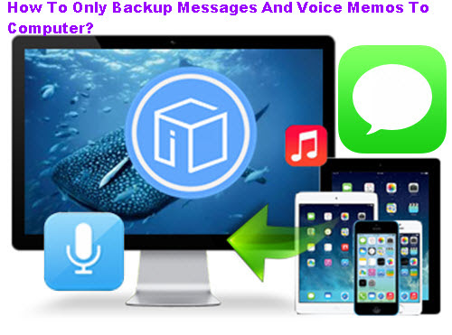 How To Only Backup Messages And Voice Memos To Computer?