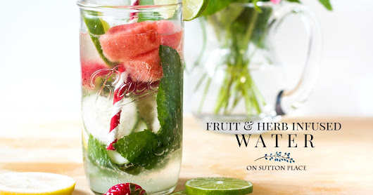 Fruit Herb Infused Water Recipe - On Sutton Place