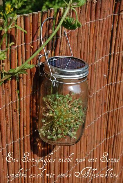 gartenwildwuchs glassonne sonne im glas sonnenglas. Black Bedroom Furniture Sets. Home Design Ideas