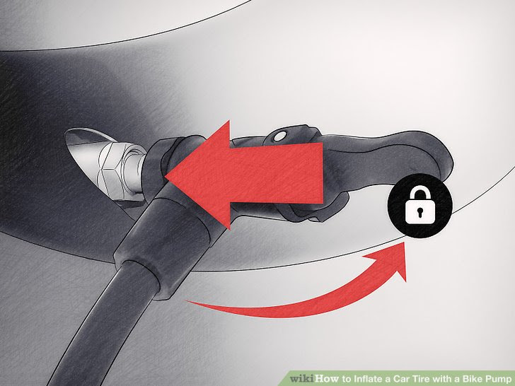 How To Inflate A Car Tire With A Bike Pump 11 Steps