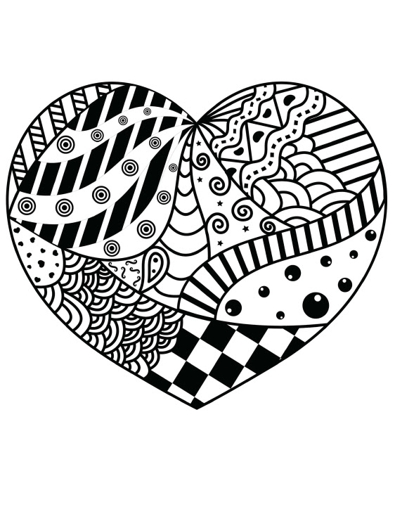 Zentangle Cupcake Strawberries Daily Planner Color the Cover