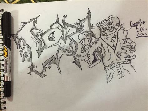 draw graffiti letters  steps  pictures
