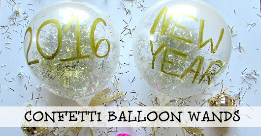Easy Confetti Balloon Wands | Smart Party Planning
