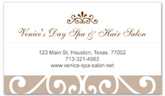 BCS-1117 - salon business card