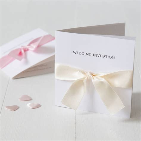 bow wedding invitation by twenty seven