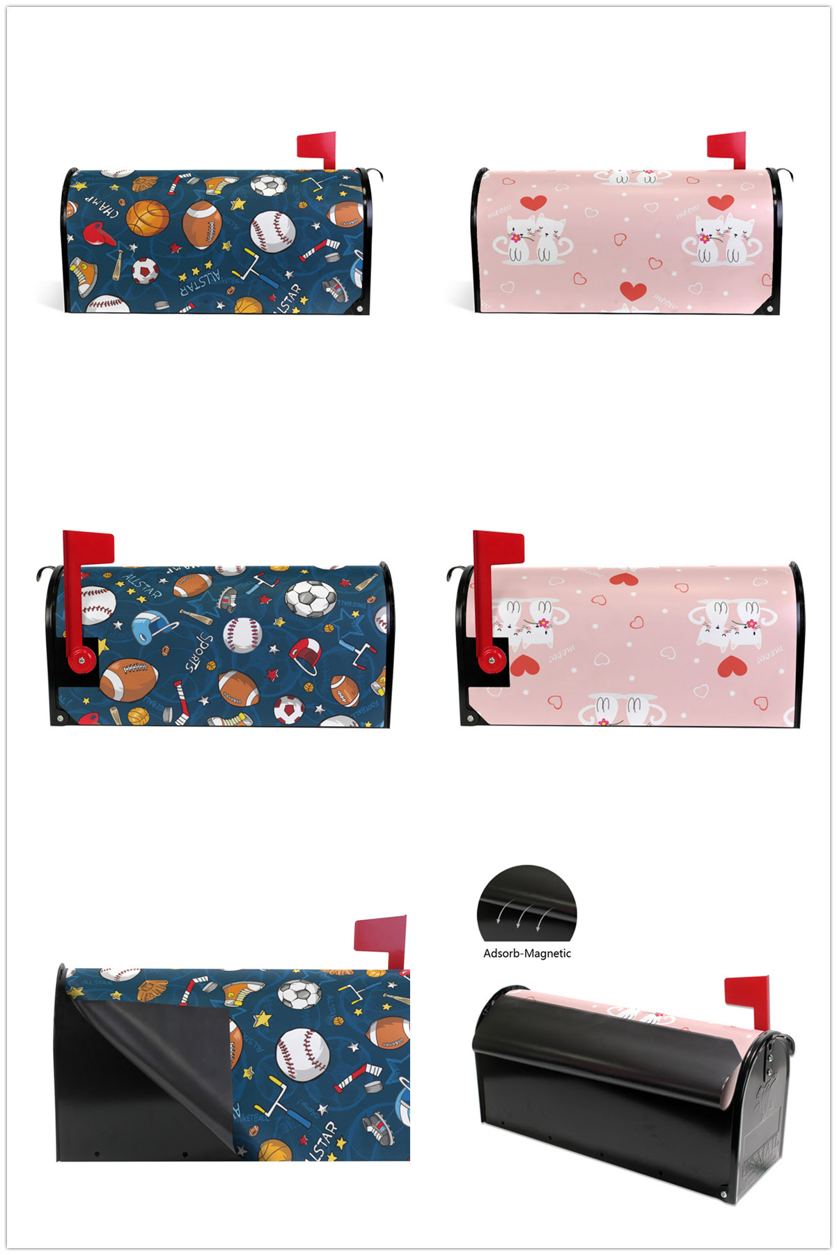 Personalized Customization Magnetic Mailbox Wrap For Decorative Magnetic Mailbox Covers Suitable For Large Size Mailboxes Buy Magnetic Pvc Mailbox Cover Custom Wrist Wraps Magnetic Mailbox Wrap Printing Product On Alibaba Com