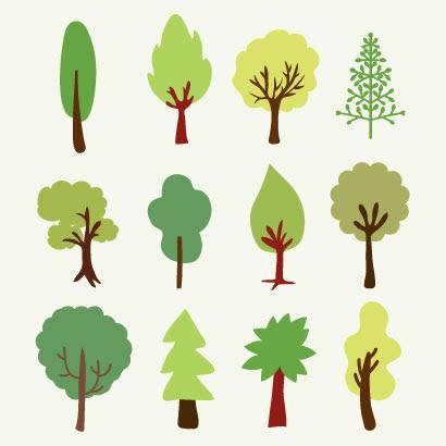 木植物アイコンのイラストaieps ベクタークラブイラストレーター