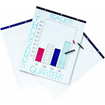 School Smart Ruled Easel Pads, 27 x 34 Inches, 50 Sheets, White, Pack