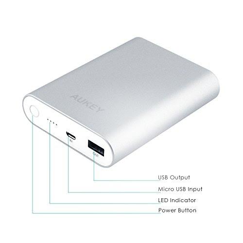 Batería AUKEY, [Qualcomm Certificado] Aukey® Quick Charge2.0 10000mAh Batería Externa Power Bank