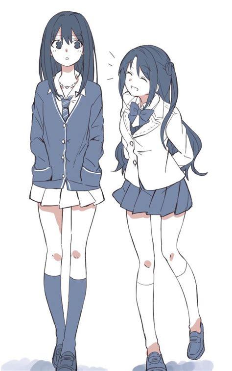 resultado de imagem  anime girl sitting   ground