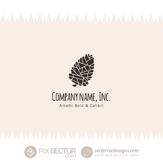 Free pine cone vector logo - Pixsector: Free vector images, mockups, PSDs and photos