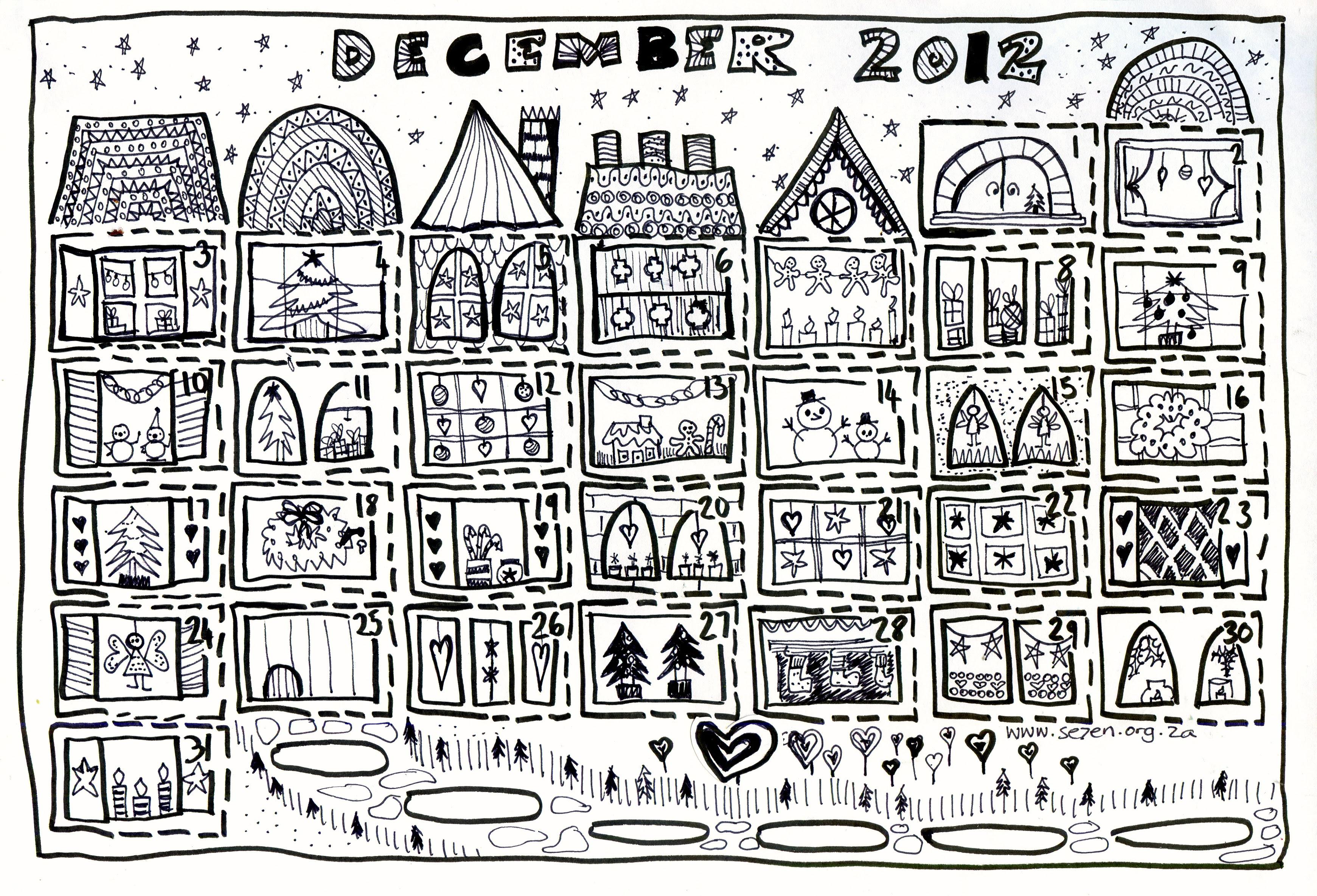 Se7en's December and Free Printable Advent Calendar… - se7en