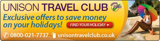 UNISON Travel Club banner
