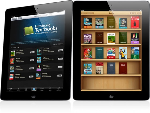 iPad iBooks 2 textbooks