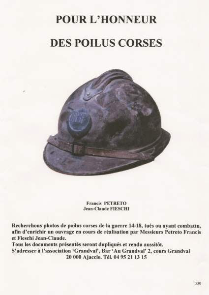 recherche photos de Poilus corses