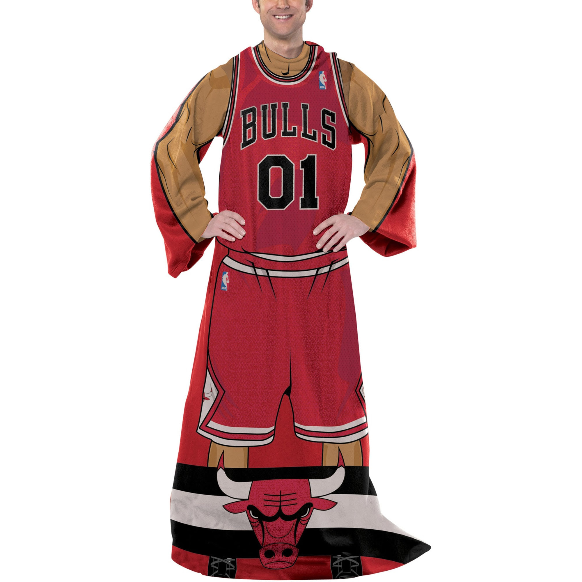 Chicago Bulls Unisex Player Comfy Throw - Red