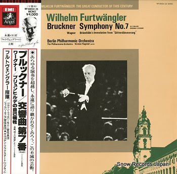 FURTWANGLER, WILHELM bruckner; symphony no.7 in e major