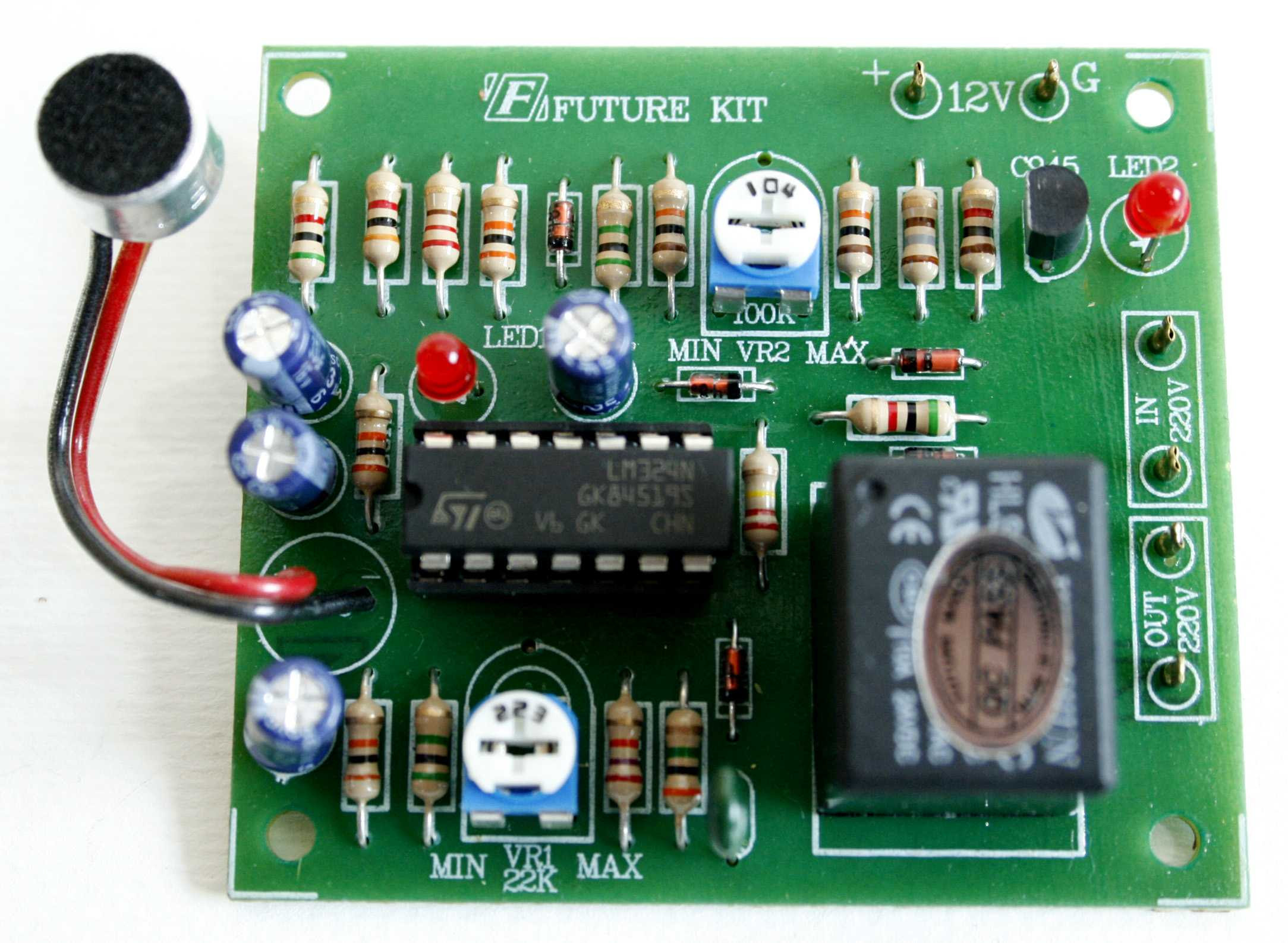 Voice Switch Circuit Diagram Images Of Clap Fk408 Activated