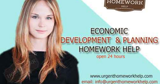 economic development & planning assignment help. economics help online