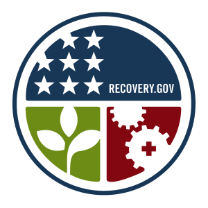 English: The emblem of Recovery.gov, the offic...