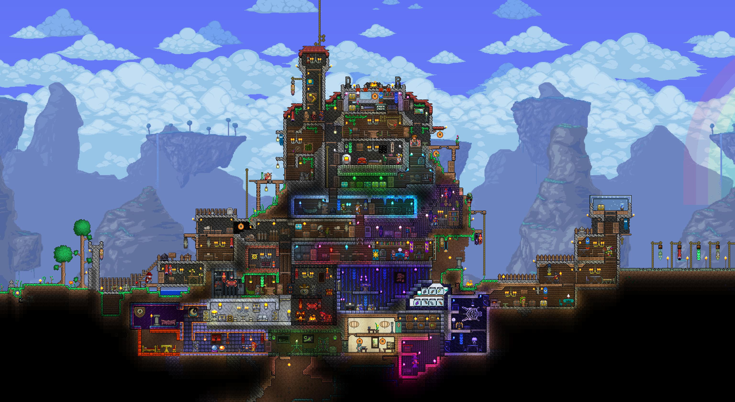 20 Elegant Terraria House Designs