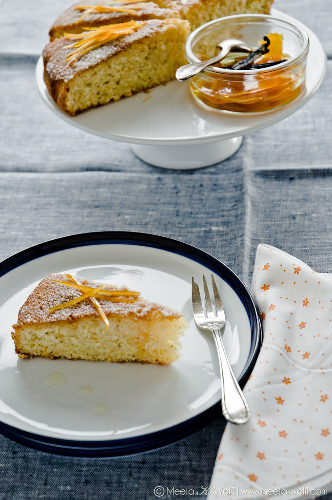 Orange Vanilla Semolina Cake (0021) by Meeta K Wolff