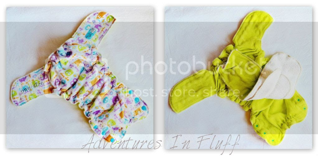 Juicytoots Fitted Diaper - Inside and Outside