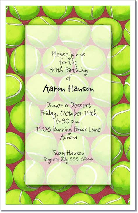 Tennis Party Invitations, Tennis Invitation, Tennis