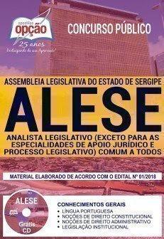 Apostila Concurso ALESE 2018 | ANALISTA LEGISLATIVO (EXCETO APOIO JURÍDICO E PROC. LEGISLATIVO) COMUM A TODOS