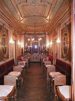 The Caffè Florian in Venice, Italy. The Caffè ...