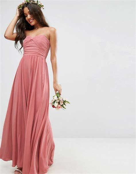 ASOS   ASOS WEDDING Bow Front Bandeau Maxi Dress
