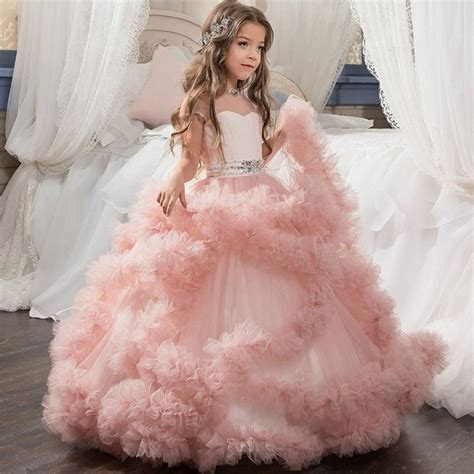 Girls Wedding Dress Kids Princess Dress Little Girl Ball