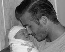 David Beckham y su hija, Harper Seven.