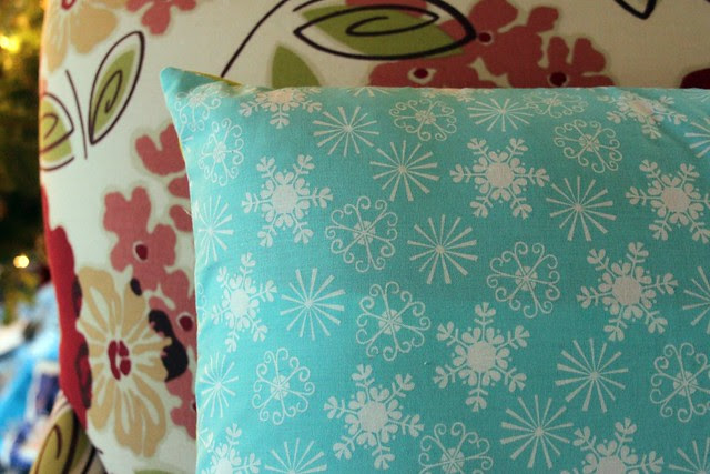 Colorful Christmas Dresden Pillow