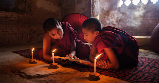 One Photo | Novice Monks in Bagan, Myanmar | Travel Photography