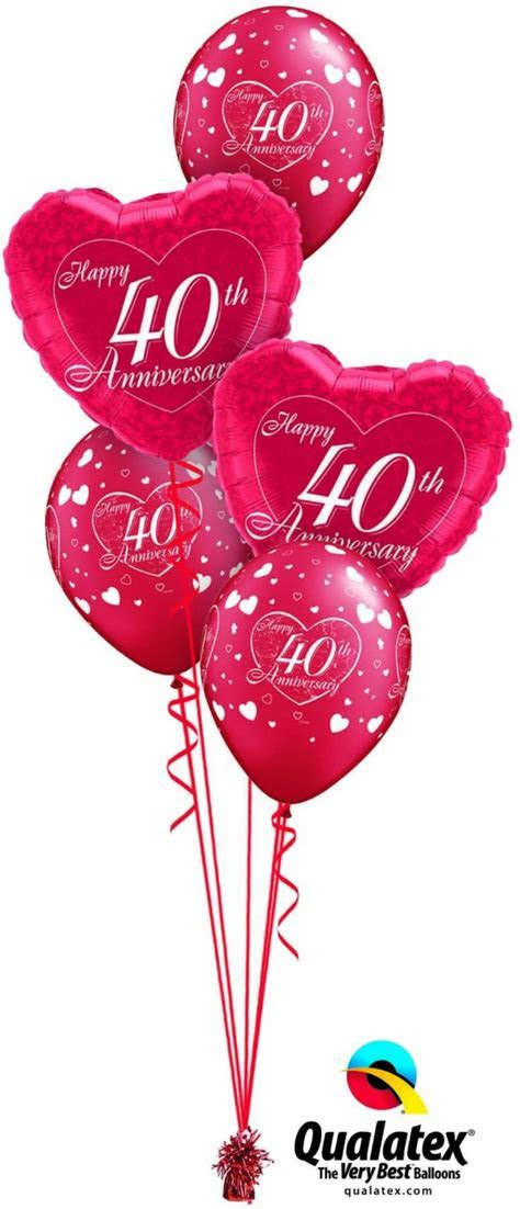 40th Anniversary Balloons 40th Anniversary Bouquets