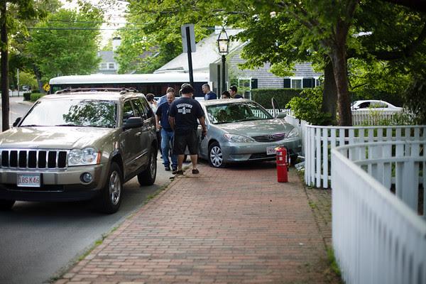 Edgartown News, sidewalk crash