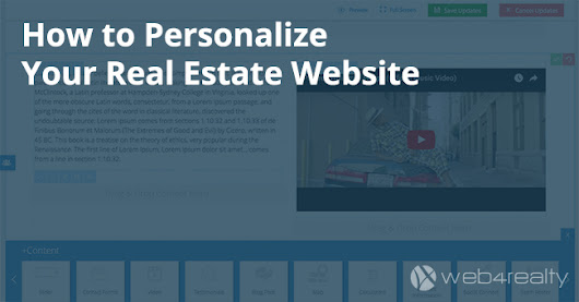 How to Personalize Your Real Estate Website | Web4Realty