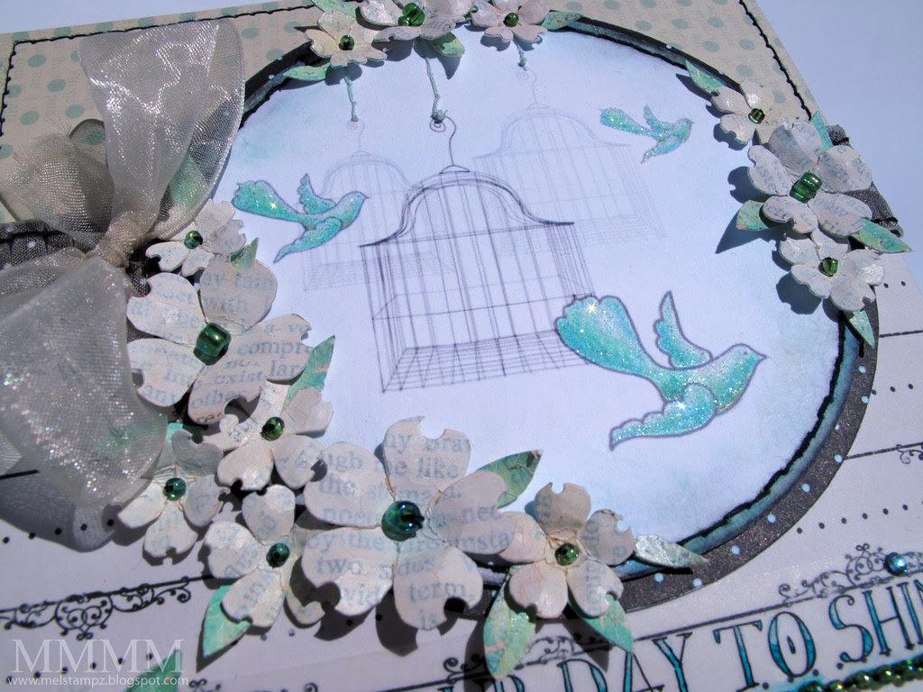 Caardvarks SRM Stickers & Hero Arts birds FSS flowers mel stampz